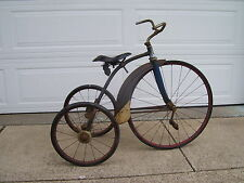 Vintage Art Deco 1930s-40s large wheel, flared fnder.AntiqueTricycle Original