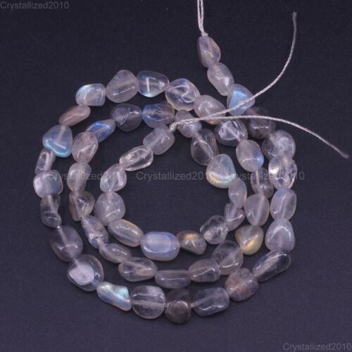 """Top Natural Gemstone Freeform Nugget Tumble Stone 6mm 8mm 10mm Loose Beads 15.5/"""""""