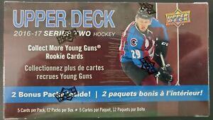2016-17-Upper-Deck-Series-2-Hockey-EXCLUSIVE-Factory-Sealed-12-Pack-Blaster-Box