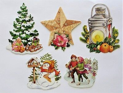 3D Easy Die Cut Card Toppers Christmas Lamp Children Star Tree Snowman Type 5