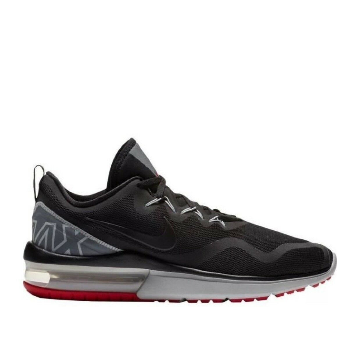 NIke Air Max Fury Mens Trainer shoe Sze 8 9 9.5 Black Red Grey