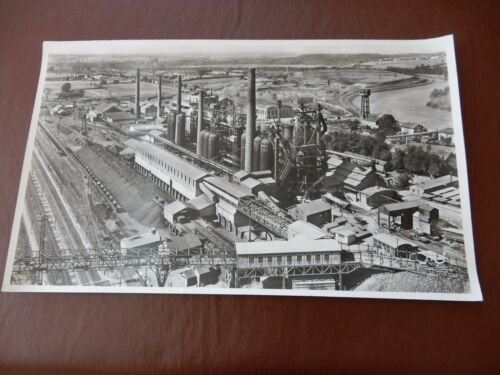 d'Uckange FURNACE MOSELLE authentic HUGE 1958 AERIAL PHOTOGRAPH 44 X 26 CM