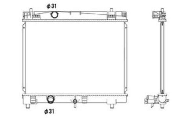 NRF Radiador, refrigeración del motor TOYOTA YARIS 53533
