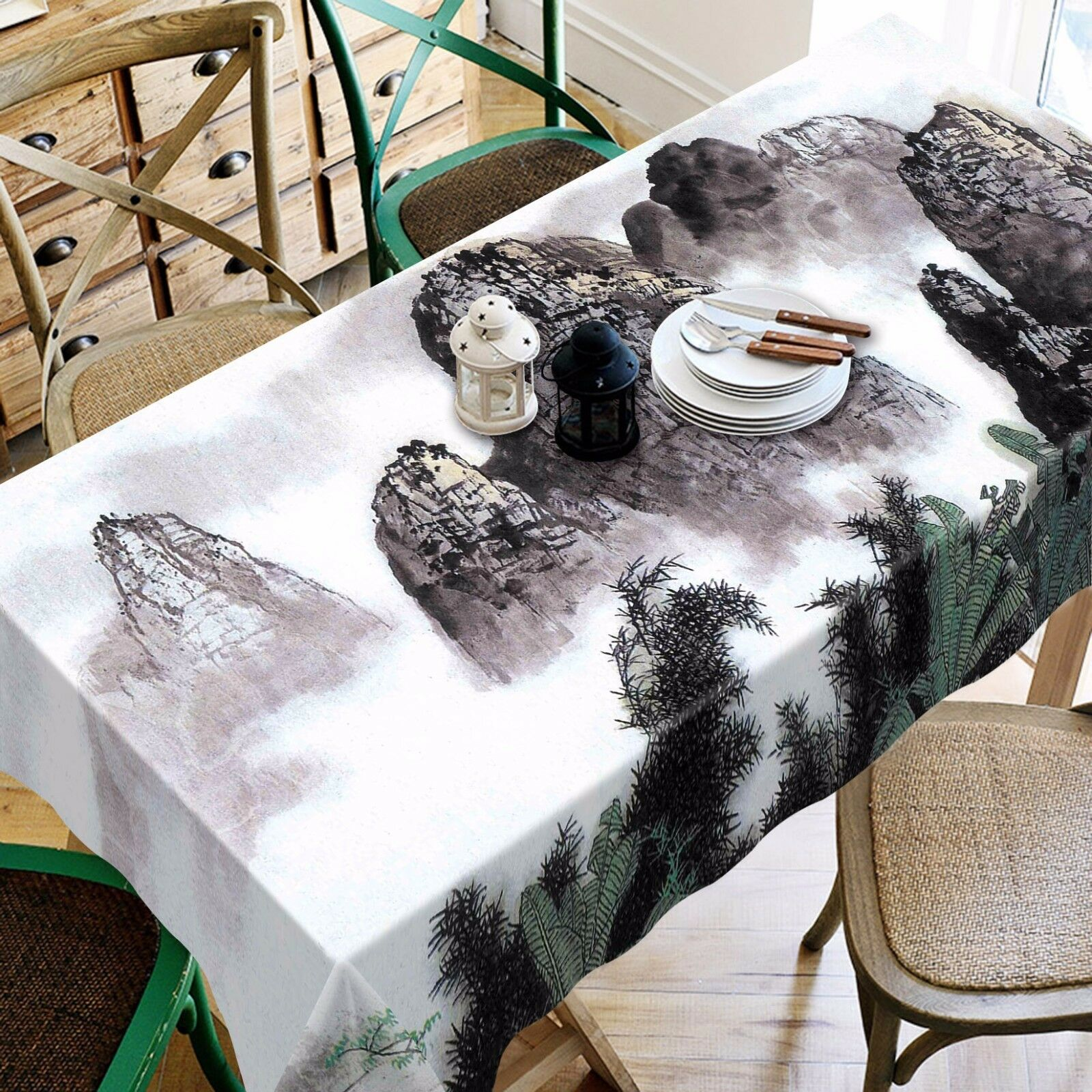 3D Mountain 63 Tablecloth Table Cover Cloth Birthday Party Event AJ WALLPAPER UK