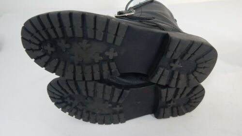 Size Soles Boots M Cute Carrini Super Harness Womens 9 Traction Black Leather Zw6Yw0q