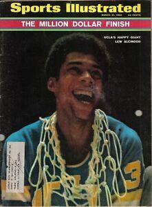 1969-Mar-31-Sports-Illustrated-magazine-Basketball-Lew-Alcindor-UCLA-Bruins-VG