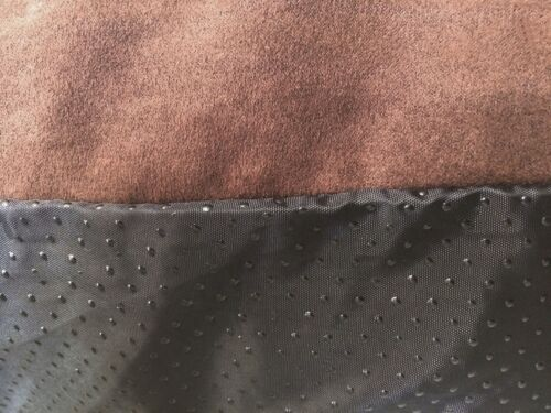 """37/""""x27/"""" Brown Suede Shredded Mixed Memory Foam Pet Dog Waterproof Pillow Bed MED"""
