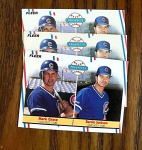 1988 Fleer #641 Mark Grace, Darrin Jackson RC - Cubs (3)