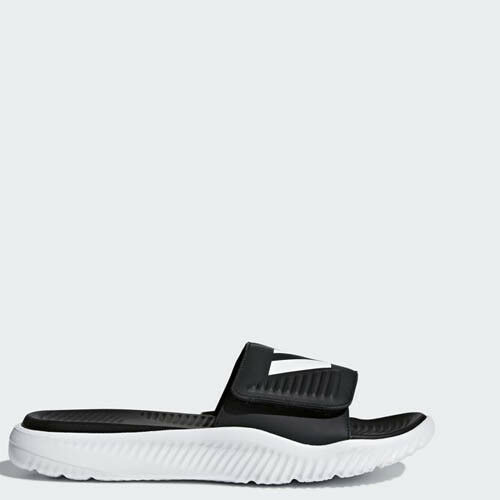 Adidas BA8775 Men Swim Alphabounce BB Slippers Synthetic Sandals white black