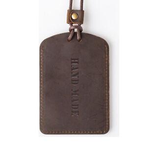 Personalized-Handmade-Genuine-Leather-Card-Sleeve-ID-Holder-Lanyard-Badge-Wallet