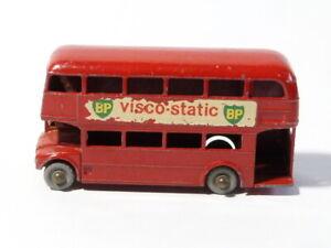 Vintage-Lesney-Routemaster-No-5-Die-Cast-Rojo-Bus-BP-Visco-anuncios-estaticos