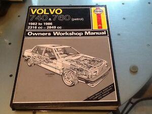 Haynes-Manual-Volvo-740-amp-760-Petrol-1982-1986-2316cc-2849cc