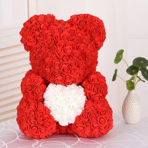 Rose-Bär Teddy Rosenbär Teddybär Geburtstag Hochzeit Dekoration Geschenkbox Incl
