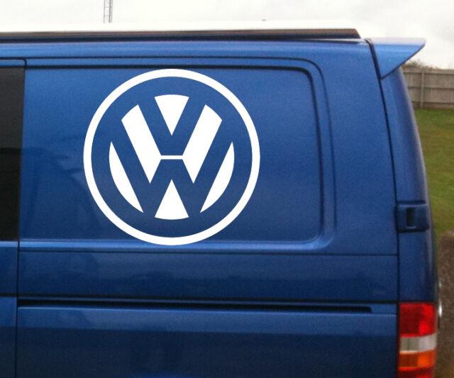 VW Volkswagen logo quality large vinyl decal sticker bonnet van vw transporter
