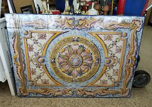 Large Vintage St Anna Portugese Tile Freeze Or Wall