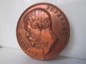 Medalla-cobre-Napoleon-III-Feria-Agricola-de-Loudun-Vienne-Anos-80