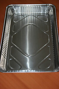 En Herbe 5 Barquettes Aluminium Plat Gastronorme 1/1. 6800 Cc .dimensions: 527x325x52 Mm Doux Et LéGer