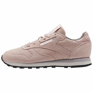7c78e387cec Reebok Women s CLASSIC LEATHER W W (Weathered   Washed) Shoes Pink ...