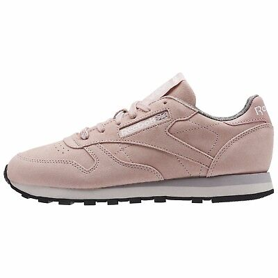 Reebok Women's CLASSIC LEATHER W&W (Weathered & Washed) Shoes Pink BS7865 b | eBay