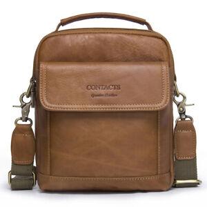 Men-Genuine-Leather-Handbag-Messenger-Satchel-Casual-Shoulder-Crossbody-Tote-Bag