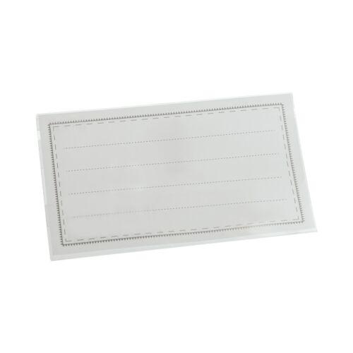 Clip 200 Namensschilder NAMENSSCHILDHALTER mit Einleger Nadel 90x56 mm