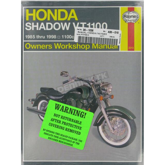 Haynes Honda Shadow Vt1100 Repair Manual