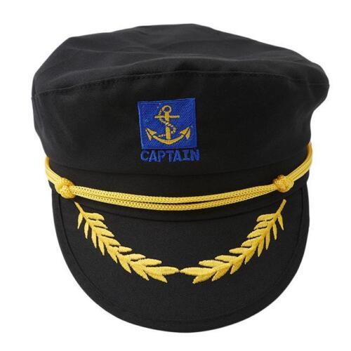Captain Costume Boat Yacht Ship Sailor Navy Captain Hat Party Cosplay Cap LA