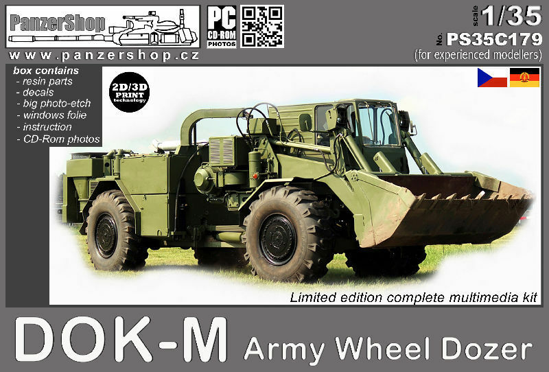 DOK-M Army Heavy Dozer resin 1 35 PanzerShop PS35C179 Warsaw Pact