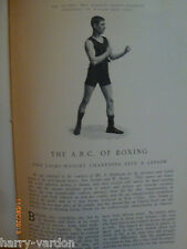 Old Edwardian Antique Boxing Photo Article 1904 Champions Ben Jordan & W Baxter