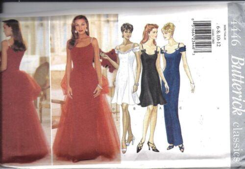 4446 UNCUT Vintage Butterick Sewing Pattern Misses Evening Dress Gown Formal OOP