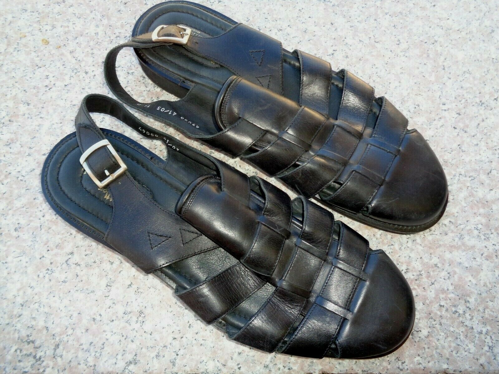 Allen Edmonds Barbados Leather Fisherman Sandals  Men's Sz 14 D