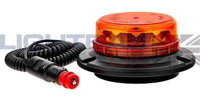 Lightbar UK Flexi DIN Mount LPB R65 Rotating Flashing Amber LED Strobe Beacon