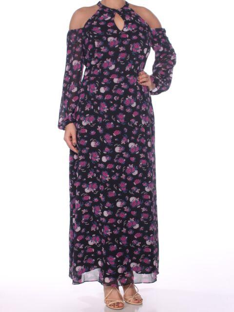 Bar Iii Cold Shoulder Maxi Dress Floral Xxs Ebay