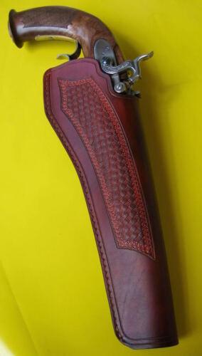 Holster nach Maß für Vorderlader Pistole Maßanfertigung Echtes Leder!!