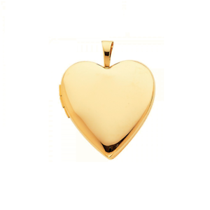 14K-Solid-Yellow-Gold-Heart-Locket-Pendant-Love-Photo-Necklace-Charm-Women-Girl