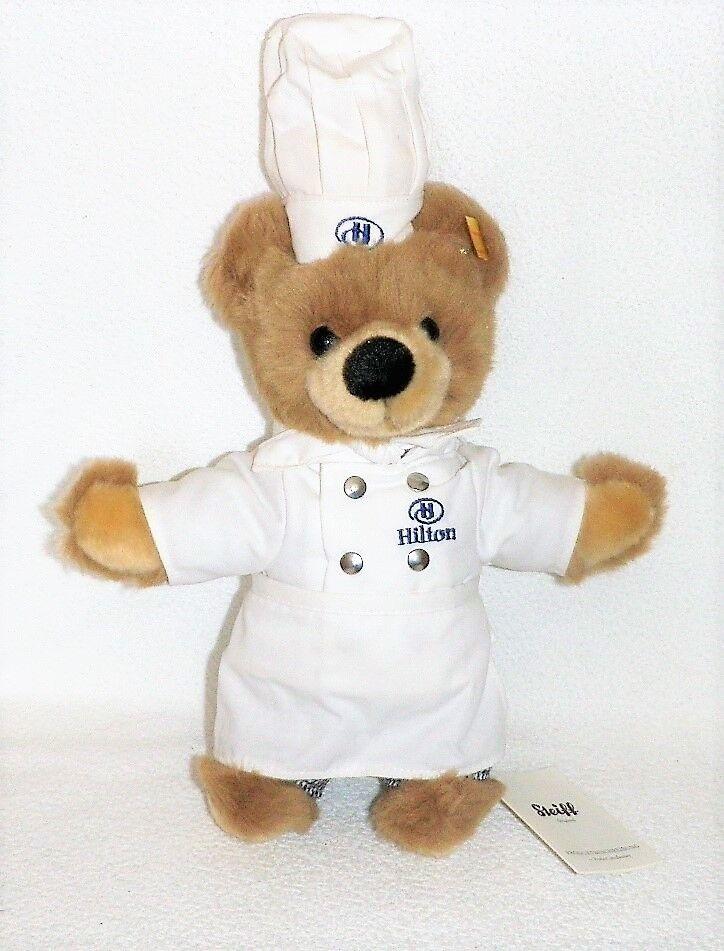 Steiff Teddybär als Chef-Koch Hilton Hotels 24 cm caramel 993251 NEU OVP