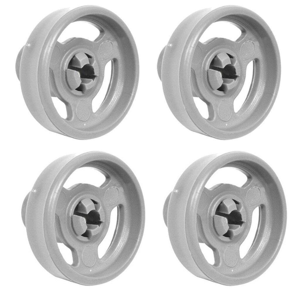 4x Genuine Hotpoint Dishwasher Lower Basket Wheels DV62WH DV62WHUK DVG622BKUK