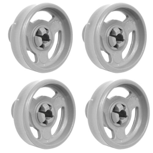 4 X Dishwasher Rollers Wheels For Indesit Lower Plate Basket C00065166 C00110647