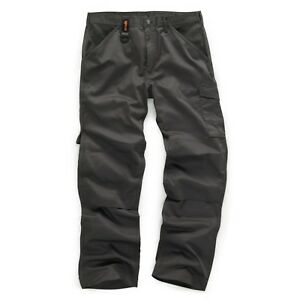 Scruffs-Trabajador-Multi-Bolsillo-Trabajo-Pantalones-De-Vestir-Gris-Grafito-todos-los-tamanos-El