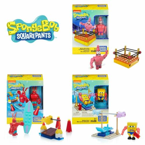 New Spongebob Squarepants Wacky Gym Surfing Or Wrestling Building Pack Official