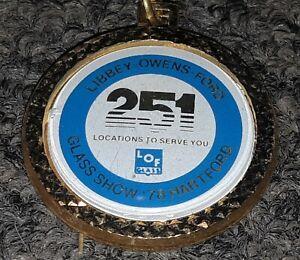 Vtg-1978-GLASS-SHOW-HARTFORD-CT-Libbey-Owens-Ford-keychain-key-ring-TOLEDO-OHIO