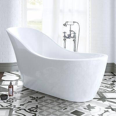 1520mm Luxury Small Bathroom Freestanding Curved Slipper Roll Top Bath Tub BR268