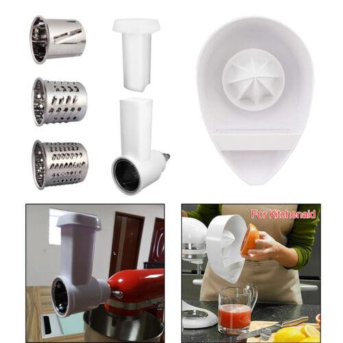 White Slicer Shredder for KitchenAid Stand Mixer Easy Clean Dishwasher Safe