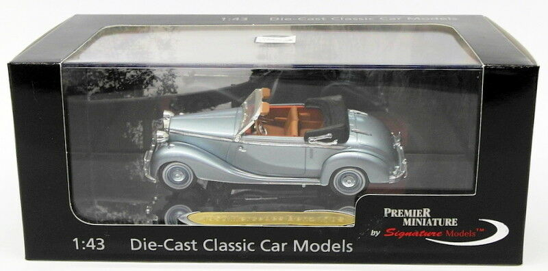 Signature Modells 1 43 Scale PM43709 - 1950 Mercedes Benz 170S - Met Licht Blau