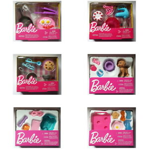 Barbie-Doll-Accessory-Mini-Playset-Toy-You-Choose-Style-Puppy-Cooking-or-Spa