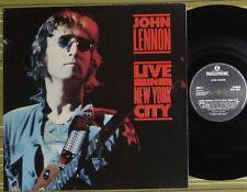 JOHN LENNON LIVE IN NEW YORK CITY, LP 1986 UK A-1/B-1 EX/EX EMBOSSED/SL INNER/SL
