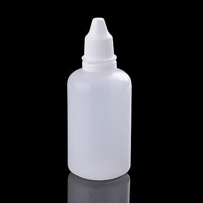 10Pcs 50ml Empty Plastic Squeezable Dropper Bottles Eye Liquid Dropper
