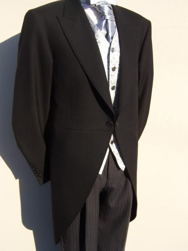 Seite Jungen Schwarz Frack Hochzeit Morgen Anzug Schweife Jacke 2 Jahre 4 6 8