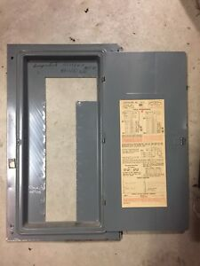 fpe federal pacific cat no 1512 150a fuse panel deadfront cover door rh ebay com Breaker Box Fuse Box vs Breaker Box