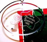 1989 Hallmark Ornament Acrylic Angel Godchild Qx3112 Never Displayed
